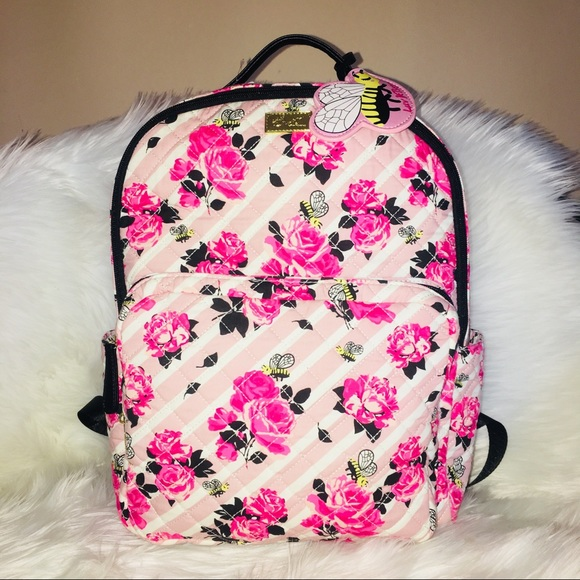 01844890fb Betsey backpack pink Rose 🌹 flower quilted bag